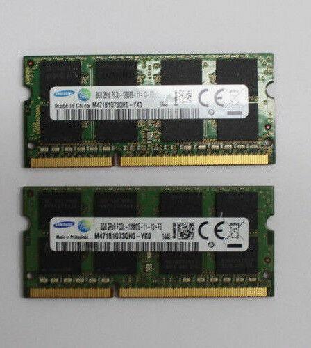 16Gb (2 x 8Gb) Samsung DDR3-RAM SO-DIMM PC3L-12800S 1,35V RAM-Speicher 1600 Mhz