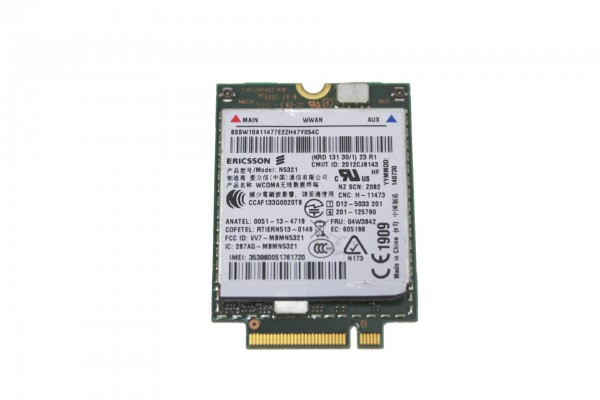 WWAN UMTS Modul Ericsson N5321 HSPA+FRU 04W3842 Lenovo T440 T431s X240 T540p L540 usw