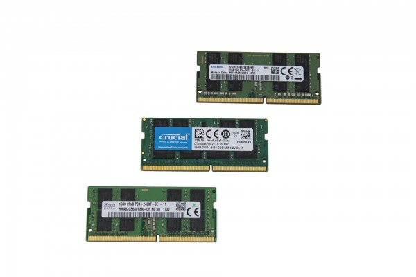16GB DDR4 SODIMM Arbeitsspeicher von Markenherstellern für z.B. T460s, T470, T480, T490, uvm.