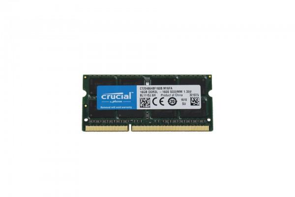 Lenovo 16GB DDR3L DRAM 1600MHz SODIMM PC3 -12800 4X70J32868 T450 T460 T540p X230