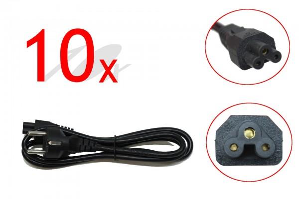 Mickey Mouse Netzkabel 10er Pack 1m 2,5A 250V~ Laptop Notebook Stromkabel Eurostecker NEU