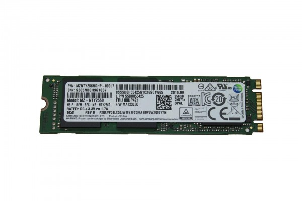 Lenovo ThinkPad 256GB M.2-SSD SATA OPAL 2.0 4XBOK48499 P50 T460s Yoga 260 X1 Carbon 4th P70