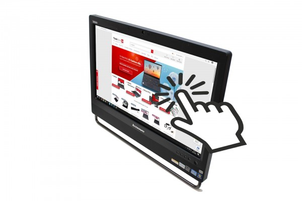 """Lenovo ThinkCentre M92z i5-3470s 2,9GHz 8GB 192GB SSD DVD-RW 23"""" FHD TOUCH All in one Win10"""